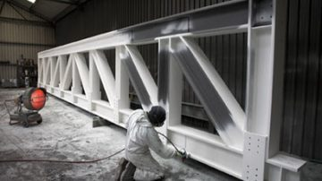 Fire protecting structural steelwork