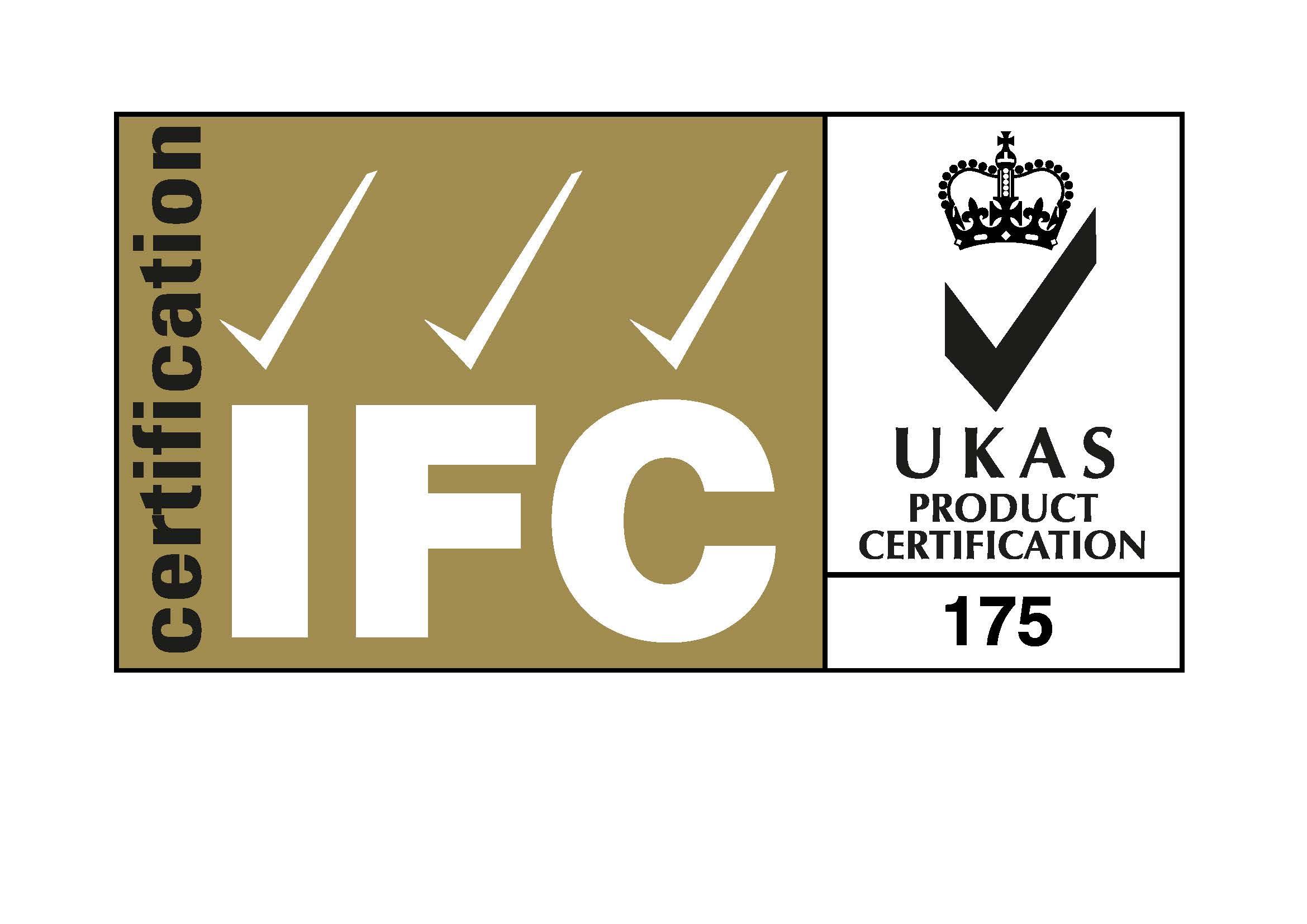IFC Cert 3 ticks + UKAS 175 alpha fire protection