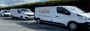Alpha Fire Protection Vans